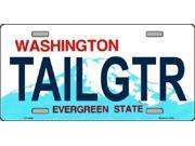 TAILGTR Washington State Background Aluminum License Plate - SB-LP3690
