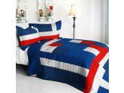 [Navy] Vermicelli-Quilted Patchwork Geometric Quilt Set Full/Queen - ONITIVA-QTS01228-23 9SIA75X7ZR1173