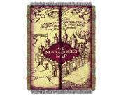 Harry Potter Marauders Map Licensed 48x 60 Woven Tapestry Throw  by The Northwest Company - 1HPT/05100/0006/RET