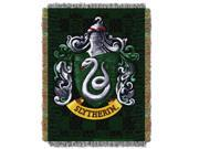 Harry Potter Slytherin Shield Licensed 48x 60 Woven Tapestry Throw  by The Northwest Company - 1HPT/05100/0003/RET