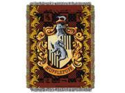 Harry Potter Hufflepuff Crest Licensed 48x 60 Woven Tapestry Throw  by The Northwest Company - 1HPT/05100/0004/RET
