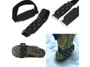1 Pair Cleats 7-Stud Shoes Cover Crampon Anti Slip Snow Ice Climbing Spikes Grippers Grip Suitable For All