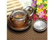 Stainless Steel Glass Faced Modern Elegant Infuser Teapot Herbal W/ High Quality Tea Leaf Filter 600ml 9SIA8T24643521