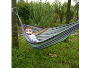 Portable Single Hammock Outdoor Swing Camping Fabric Hanging Canvas Bed W/Rope