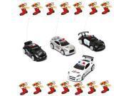 Mini RC Remote Radio Control Racing Police Car Siren LED Light Children Toy Christmas Gift-White 9SIA76H3602028