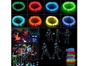 1M Flexible EL Wire Neon Light  For Dance Party House Window Car Decoration Night Clubs Parties Dark hallways With Controller + Controller Red