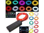 2M Flexible EL Wire Neon Light  For Dance Party House Window Car Decoration Night Clubs Parties Dark hallways With Controller + Controller Blue