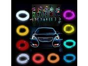 5M Flexible EL Wire Neon Light  For Dance Party House Window Car Decoration Night Clubs Parties Dark hallways With Controller + Controller Orange