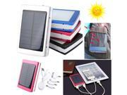 Actual 7500mAh Portable Super Solar Power Charger Dual USB External Battery Power Bank With 2835 SMD 20 LEDs LED flashlight For Phone iPhone iPad iPod + 1x USB 9SIV0E240A9472