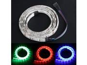 1M 100cm 3FT 60 SMD LED 5050 Strip Light Lamp Waterproof 3 Color RGB Flexible Light Bulbs DC 12V