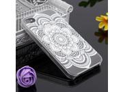 Ultra Slim White Floral Flower PC Hard Back Case Cover For Apple iPhone 4 4S