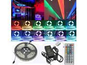 5M 5050 300 SMD RGB Waterproof LED Strip Light Lamp + 44 Key IR Remote Controller+ 12V 5A Power Supply