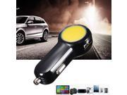 Universal 2-port USB Car Charger Adaptor for iphone6/6s/5 iPod iPad Samsung Galaxy S6 MP3 4 Camera HTC