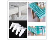 4PCS Lightweight Plastic Tablecloths Cover Table Desk Fixed Avoid Move Picnic Clamp Clips White