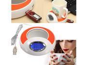 3 in 1  4 Port USB Hub Coffee Milk Cup Mug Warmer Pad w/Blue LED Backlight For PC Laptop 9SIA76H3852435
