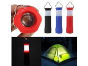 Protable Mini Tent Camping Lantern Light Hiking Aluminum Led Flashlight Torch 3 Modes Outdoor With Hook Color Random image