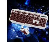 Wireless USB Gaming Keyboard Mouse Set Mechanical Feel For PC Laptop Cybercafe