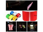 Car High Intensity Reflective Self adhesive Safety Warning Conspicuity Tape Roll Film Sticker 5 cm x 5 m Gold