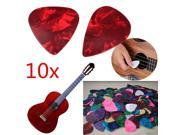 10 Pcs 0.46mm Heart Shape Colorful Acoustic Electric Guitar Bass Picks Plectrum