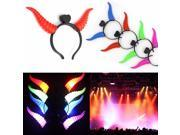 Light-Up Cartoon Headband LED Flashing Dance Costume Party Pub Christmas Xmas Halloween Gift