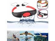 4GB + Bluetooth IPX8 Waterproof Underwater Sports Swimming Diving FM Radio MP3 Music Player