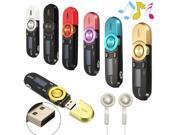 16GB Mini LCD USB Data Disk MP3 Music Player FM Radio Voice Recorder + Earphone