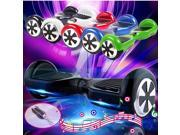 """Mini 6.5"""" Smart Electric Self Balancing 2 Wheels Smart Electric Self Balancing Scooter Monorover Hoverboard Hover Board Balance with LED Light Remote Control Key & Bluetooth Stereo Black"""