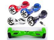 """Mini 6.5"""" Smart Electric Self Balancing 2 Wheels Smart Electric Self Balancing Scooter Monorover Hoverboard Hover Board Balance with LED Light Remote Control Key & Bluetooth Stereo Green"""