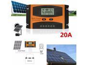 20A PWM LCD Solar Panel Battery Regulator Charge Controller 12/24V IP32