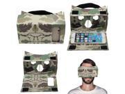 DIY 3D VR Box Virtual Reality Camo Cardboard Glasses Head Mount For 5'' Phone 9SIAASP40S1405