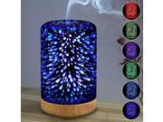 3D Glass Light Essential Oil Aroma Diffuser Ultrasonic Humidifier Aromatherapy 9SIA76H65B8081