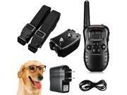 Electric Dog Stop Barking Anti Bark LCD Transmitter 2 Collar Remote Training Kit 9SIA76H6PT7641