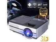 4K Wifi Android 4.4 Bluetooth Projector 1080p Full HD LED Home Theater HDMI USB 9SIA76H7325737