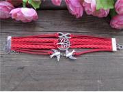 Infinity Cross Leather Multi Layer Handmade Rope Bracelet Tq B97