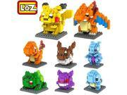 Young LOZ 8box Diamond Block Pokemon Pikachu Squirtle Bulbasaur Eevee Bulbasaur Charizard Gengar Mewtwo 1180pcs Parent-child Games Building Blocks Children Educ 9SIA76Z3CA2651