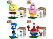 Young New 4 Box LOZ Diamond Block Spongebob Mr.crab Squidward Patrick Star Toys 500pcs Parent-child Games Building Blocks Children's Educational Toys 9SIA76Z3CA2656