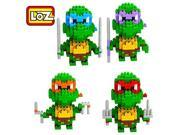 Young New 4 Box LOZ Diamond Block Teenage Mutant Ninja Turtles Toys 820pcs Parent-child Games Building Blocks Children's Educational Toys 9SIA76Z3CA2646