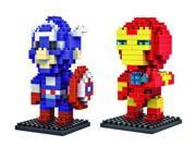Young LOZ Diamond Blocks Marvel Heroes Iron Man and Captain America 2 Pcs Set 9SIA76Z39R7886