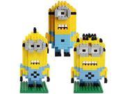 Young Set of 3Pcs Despicable Me LOZ Building Toy Nano Block Mini Diamond Minion Figure 9SIA76Z39R7983