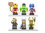 LOZ The Avengers Set Pack of 6 Iron Man Captain America Thor Loki Hulk and Fury Nanoblock Educational Toy 1880pcs 9SIA76Z3BS6275