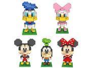 5box LOZ Diamond Block Mickey Mouse Donald Duck Micky Minny Goofy Toys 1190pcs Parent-child Games Building Blocks Children's Educational Toys 9SIA76Z3BS6321