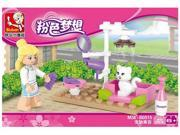 Sluban building blocks 05150516 new pink dream children's puzzle assembling toys 9SIA76Z62G8552