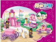 Sluban building blocks pink dream series 0250 royal carriage children's puzzle assembling toys 9SIA76Z62G8553
