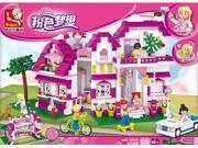 Sluban pink dream Villas del Sol puzzle assembling toys 9SIA76Z62G8550