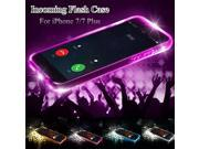 New Soft TPU LED Flash Light Up Remind Incoming Call Case Cover Samsung Galaxy S7 Edge Pink
