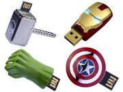Marvel The Avengers USB 8GB Flash Drive Set Of 4