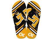 Georgia Tech Yellow Jackets Unisex Big Logo Flip Flops Medium (W 9-10/M 7-8)
