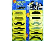 Assorted Party Costume Mustaches Set of 12 One Size