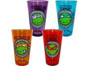 Teenage Mutant Ninja Turtle Face Pint Glass Set Of 4 9SIA0192077032