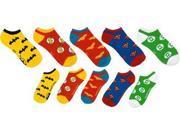 DC Comics Superhero Logo Ankle Socks 5 Pair Pack One Size Fi